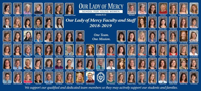 our lady of mercy faculty and staff 2018-2019